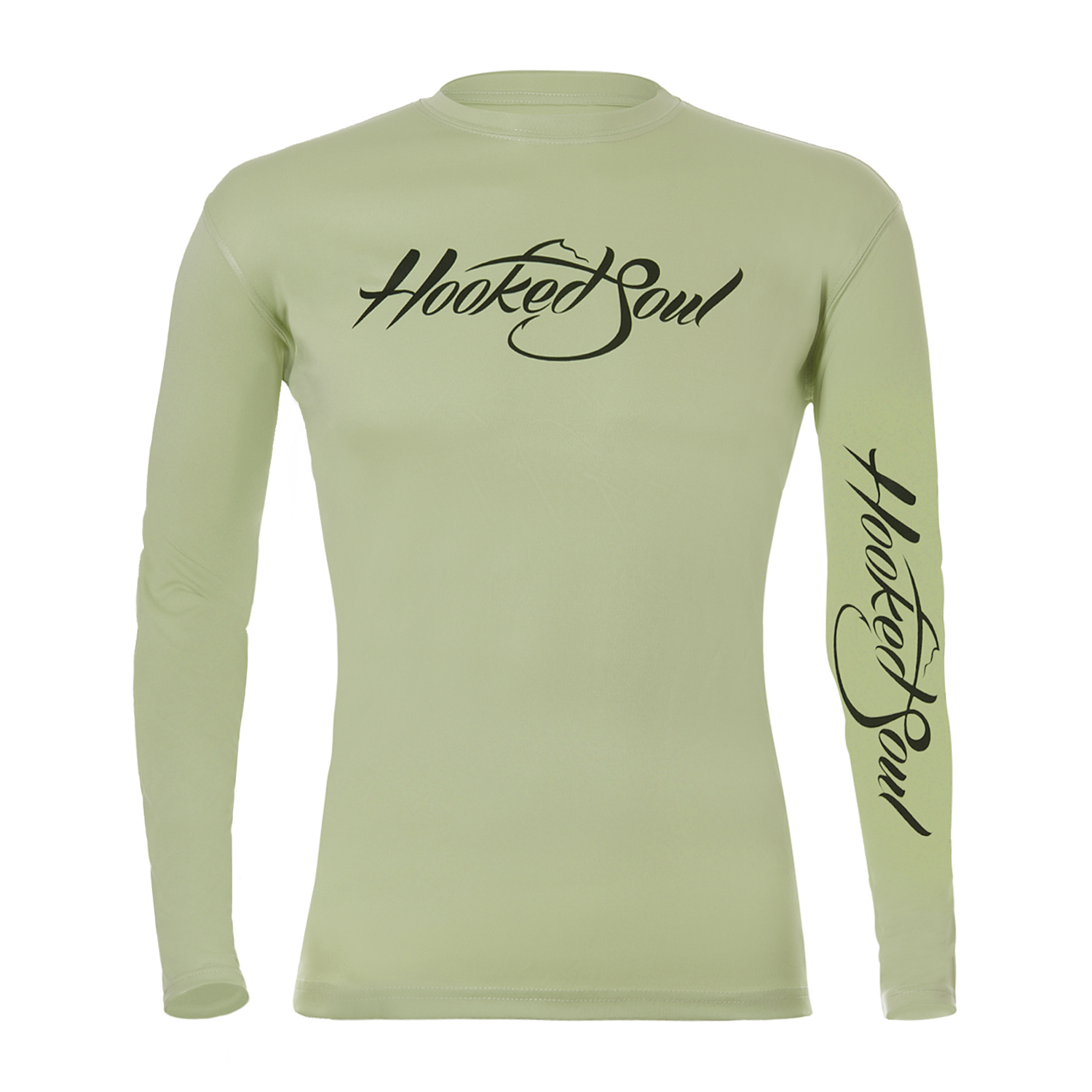 Performance long sleeve largemouth bass design for Fishing shirts that keep you cool