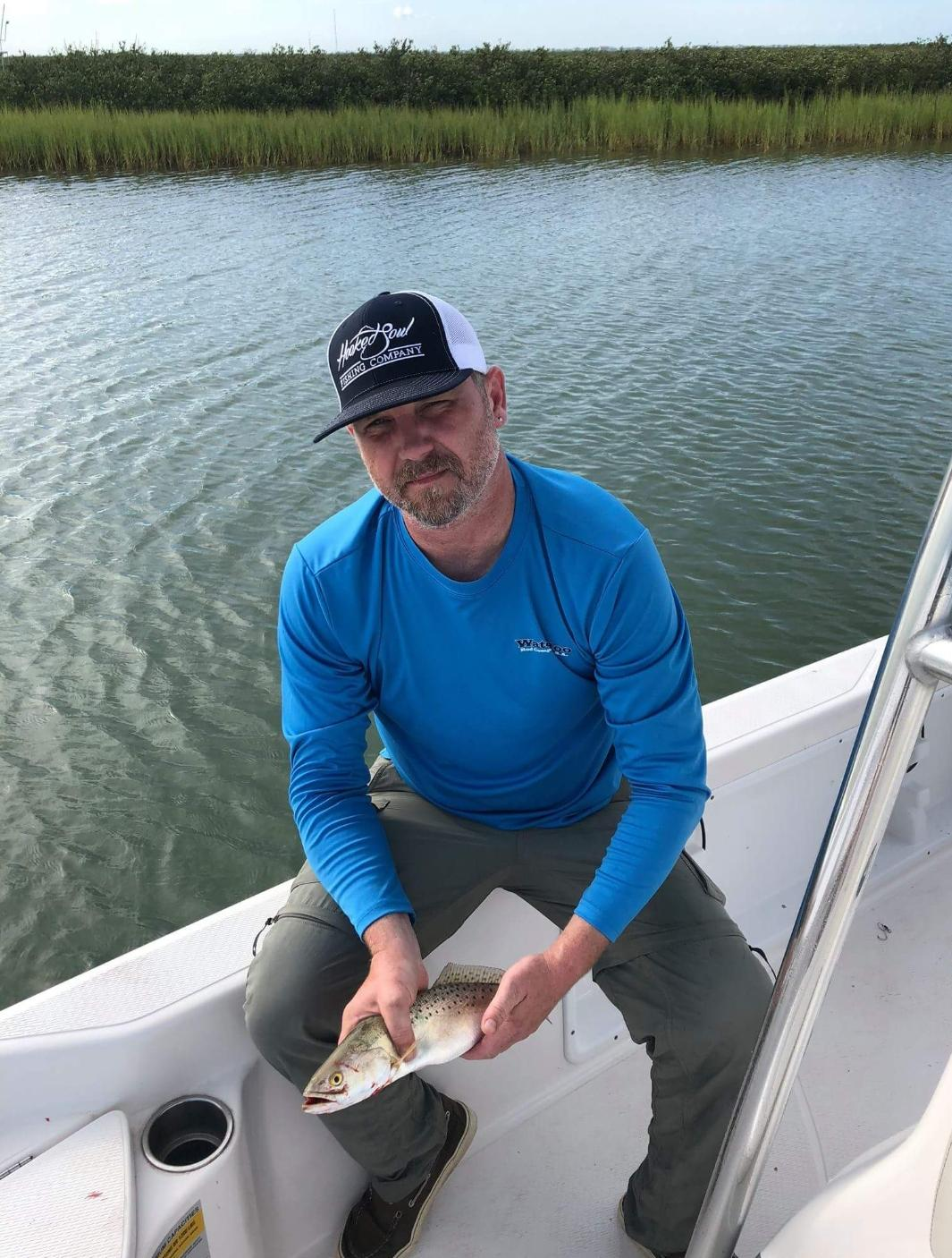 navy white tournament fishing hat