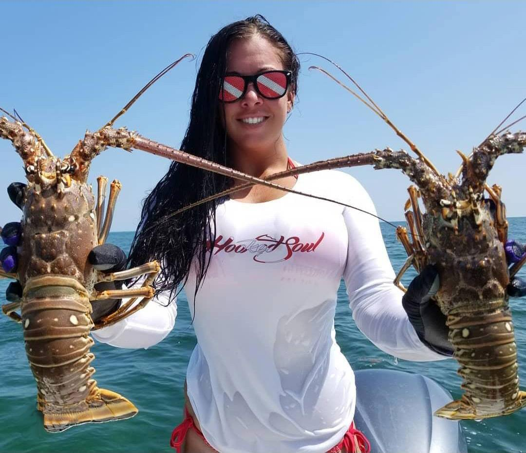 lobster diver down womens performance fishing shirts