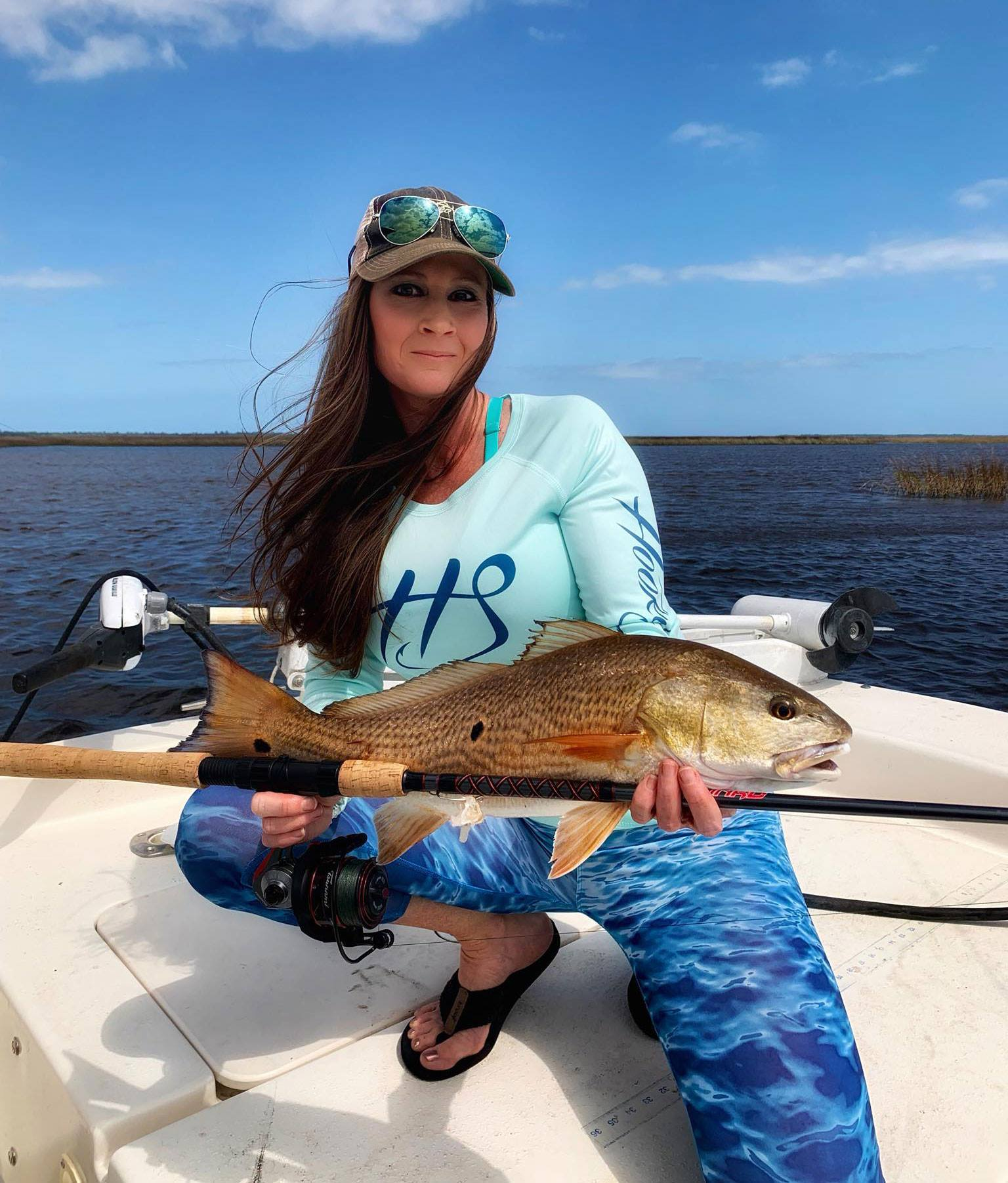 womens performance long sleeve fishing shirt hat