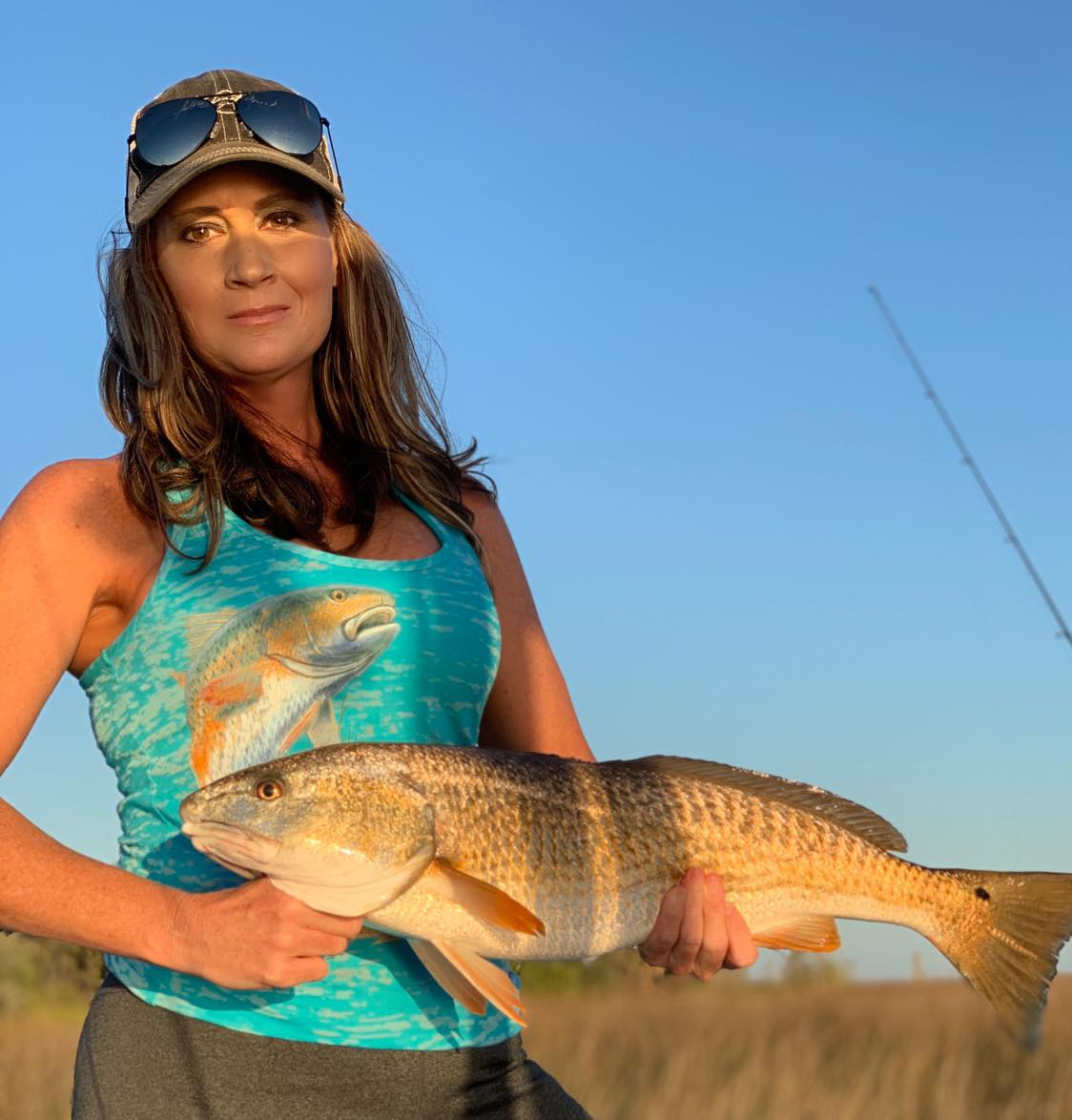 redfish womens fishing trucker hat