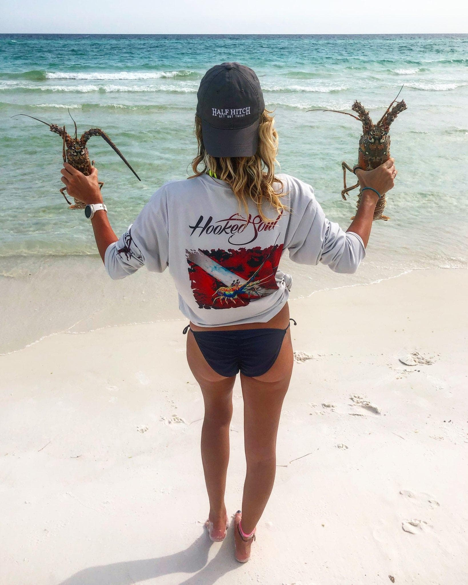 lobster diver down womens performance fishing shirt